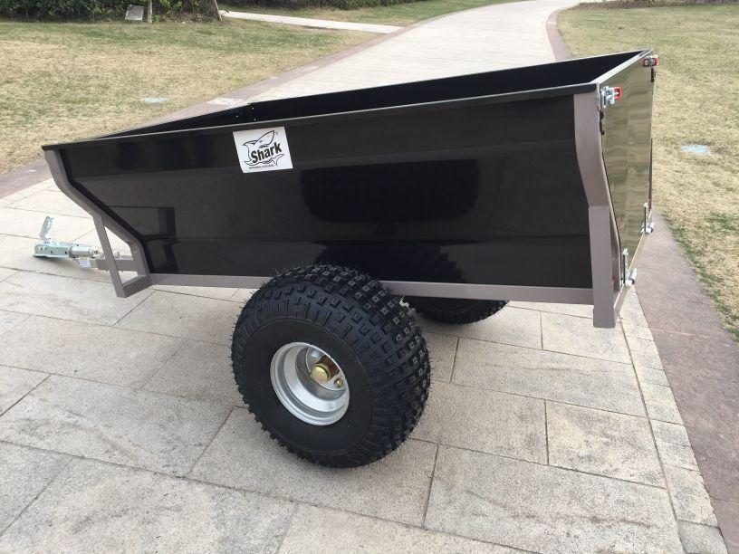 SHARK ATV TRAILER WOOD 550 BLACK 160 x 130 x 85 cm | www