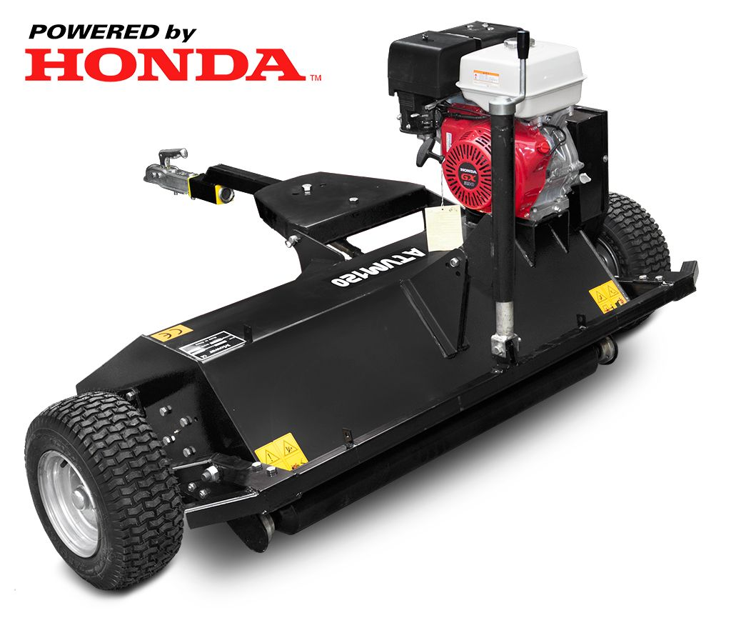 Atv Mulcher With Honda Gx 390 Engine Black Color Www