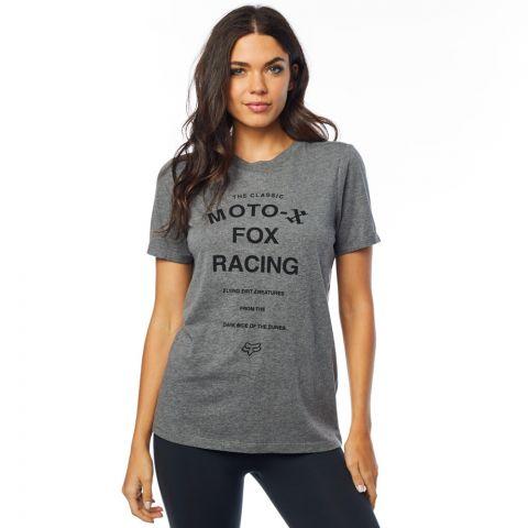 Fox Womens Boyfriend Fit Darkside Short Sleeve Crew T-Shirt